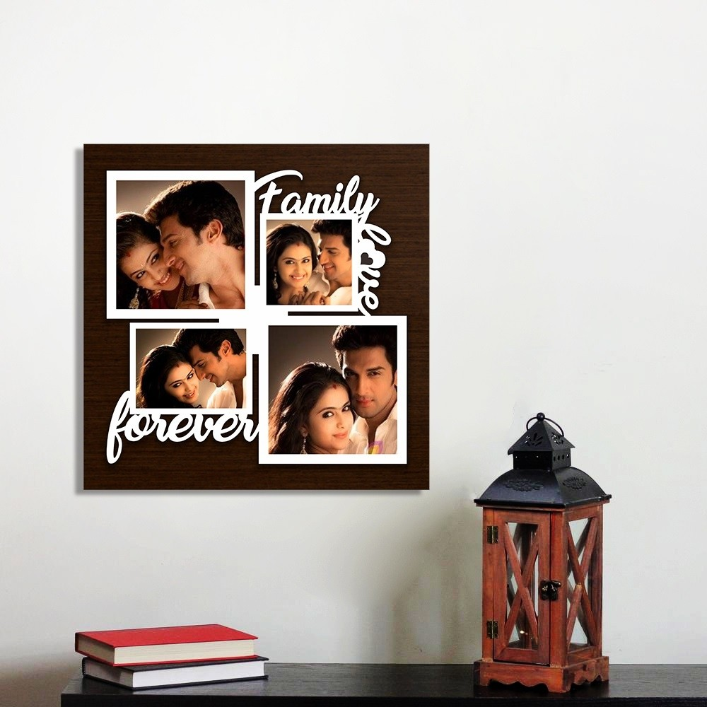 Personalized Family Forever Wall Photo Frame Style 6