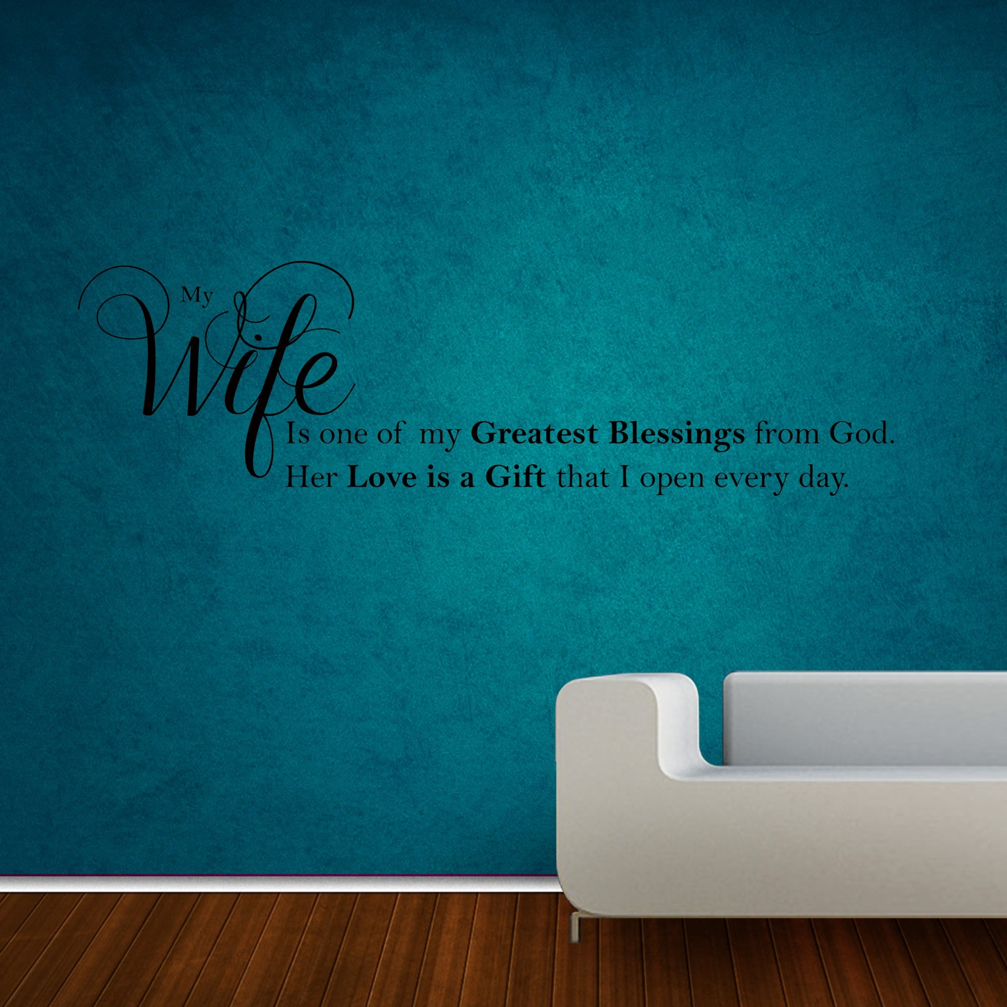 My Wife Wall Sticker Decal-Small-Black