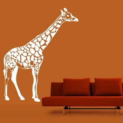 Giraffe Wall Sticker Decal-Small-White