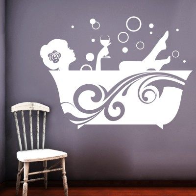 Bubble Time Wall Sticker Decal-Small-White