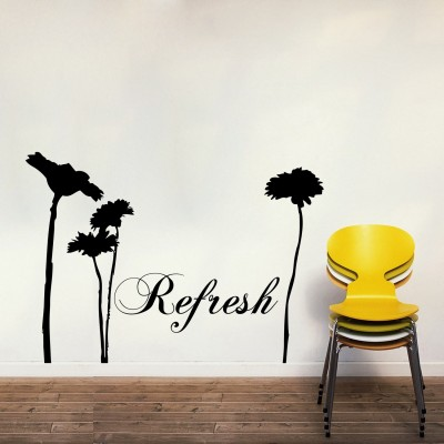Refresh Wall Sticker Decal-Small-Black