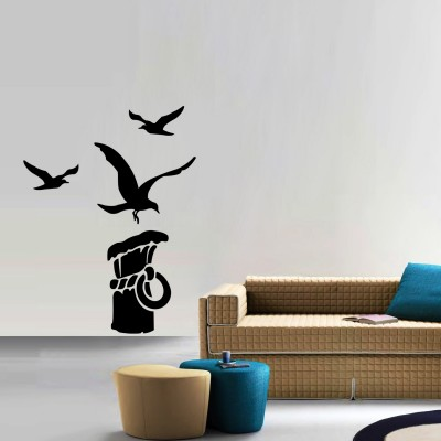 Seagull Wall Sticker Decal-Small-Black
