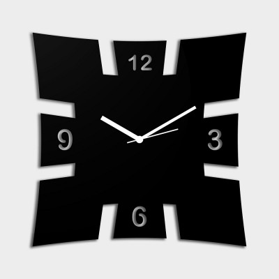 Brick Style Black Wall Clock