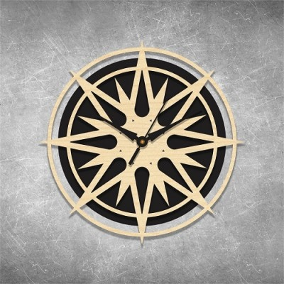 Rising Star Birchwood Wall Clock