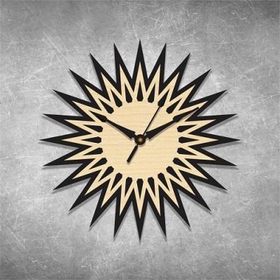 Star Cut 2 Birchwood Wall Clock