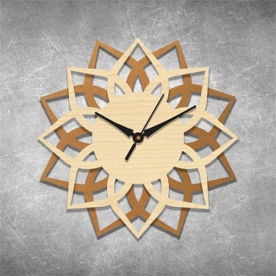 Traditional Self Cut 2 Birchwood Wall Clock