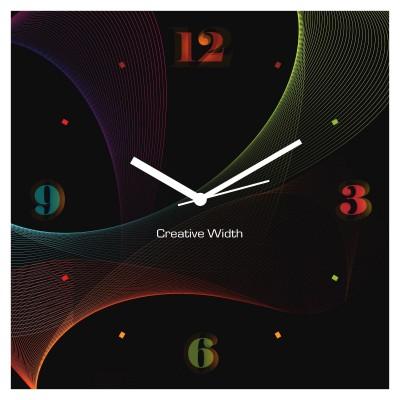 Colour Waves Wall Clock