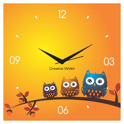 Cute Owls on Branch Wall Clock