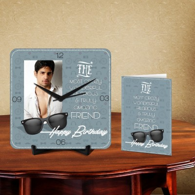 Personalized Crazy Friend Desk Clock-With Card