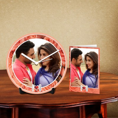 Personalized Love You Desk Clock-With Card