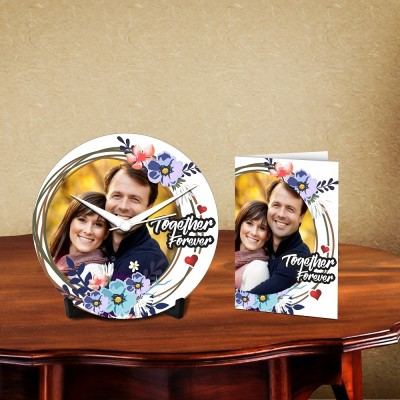 Personalized Together Forever Desk Clock-With Card