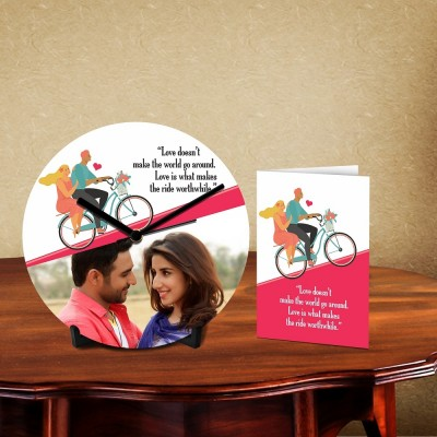 Personalized Love Ride Desk Clock-With Card