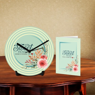 Sweet Home Desk Clock-With Card