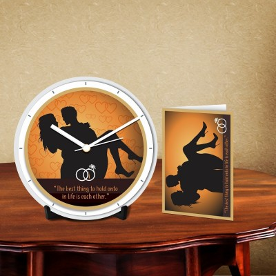 Hold Each Other Desk Clock-With Card