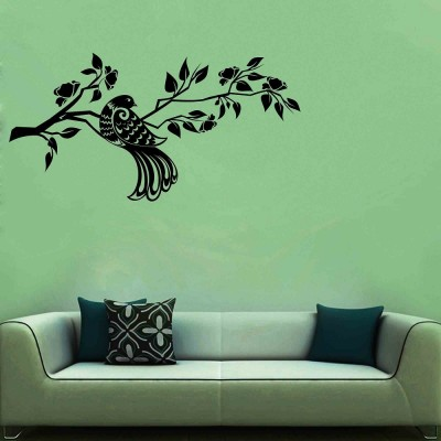 Ethnic Bird 1 Wall Sticker Decal-Small-Black