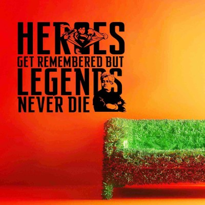 Legends And Heros Wall Sticker Decal-Small-Black