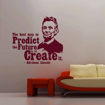 Abraham Lincoln Wall Sticker Decal-Small-Burgundy