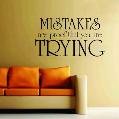 Mistakes Are Proof Wall Sticker Decal-Small-Black