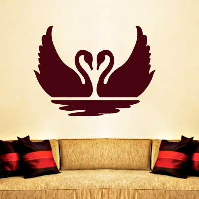Duckie Couple Wall Sticker Decal-Small-Burgundy