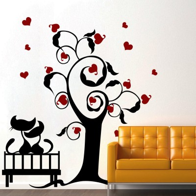 Cats In Love 2 Wall Sticker Decal-Small