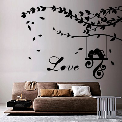 Love Parrots Wall Sticker Decal-Small-Black