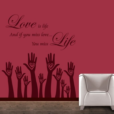 Love Is life Wall Sticker Decal-Small-Burgundy