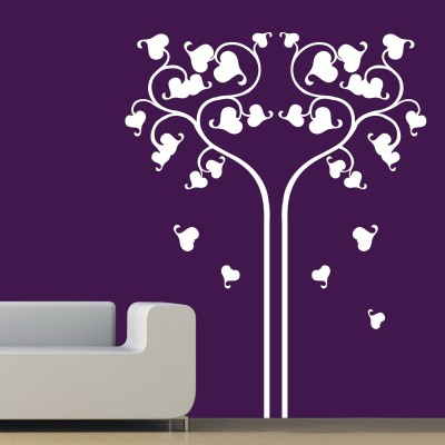 Love Reflects Wall Sticker Decal-Small-White