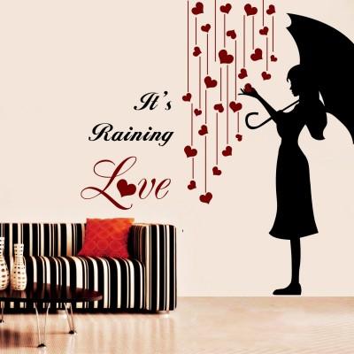 Its Raining Love Wall Sticker Decal-Small