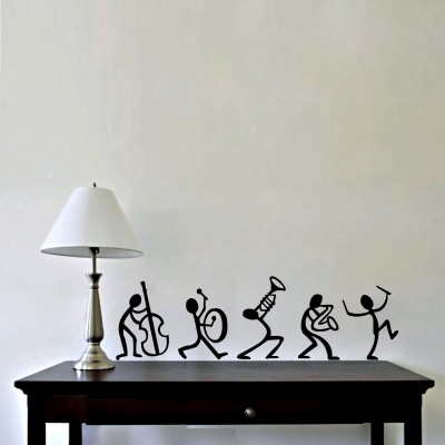 Enjoy With Band Wall Sticker Decal-Small-Black
