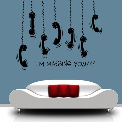 Missing You Wall Sticker Decal-Small-Black