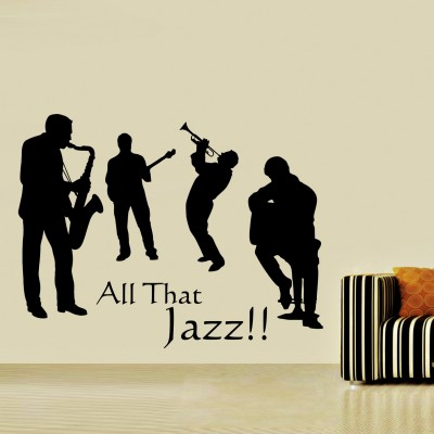 All That Jazz Wall Sticker Decal-Small-Black