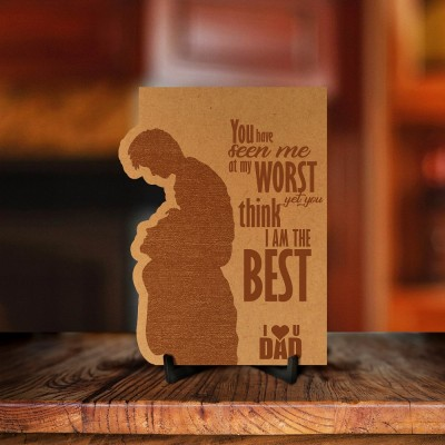 Love You Dad Engraved Photo Frame Style 1