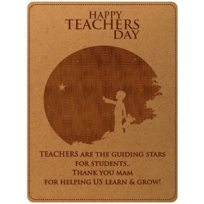 Teachers Day Special Engraved Photo Frame