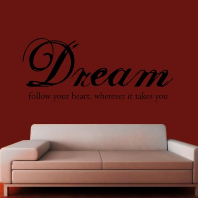 Follow Your Heart Wall Sticker Decal-Small-Black