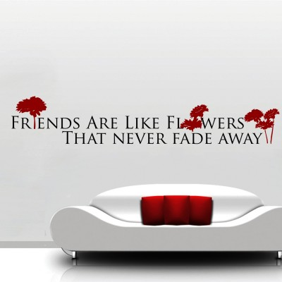Friends Are Like Flowers Wall Sticker Decal-Small
