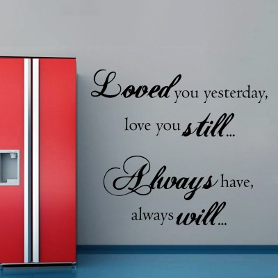 Love You Always Wall Sticker Decal-Small-Black