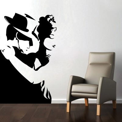 Intense Dance Wall Sticker Decal-Small-Black