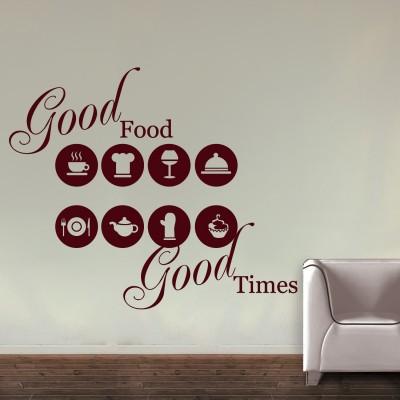 Good Food Good Times Wall Sticker Decal-Small-Burgundy