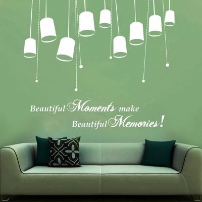 Beautiful Moments Wall Sticker Decal-Small-White