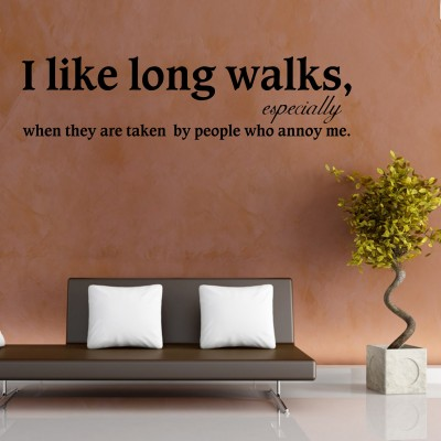 Long Walks Wall Sticker Decal-Small-Black