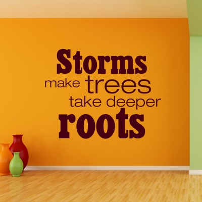 Tree Roots Wall Sticker Decal-Small-Burgundy