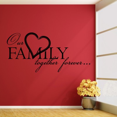 Our Family Wall Sticker Decal-Small-Black