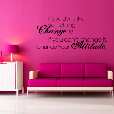 Change Two Wall Sticker Decal 2-Small-Black