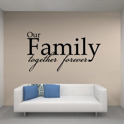 Our Family Two Wall Sticker Decal 2-Small-Black