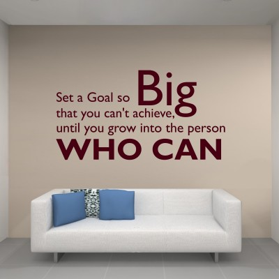 Set A Goal Two Wall Sticker Decal 2-Small-Burgundy