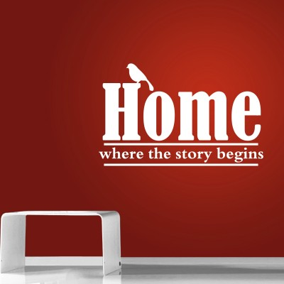 Where The Story Begins Three Wall Sticker Decal 3-Small-White