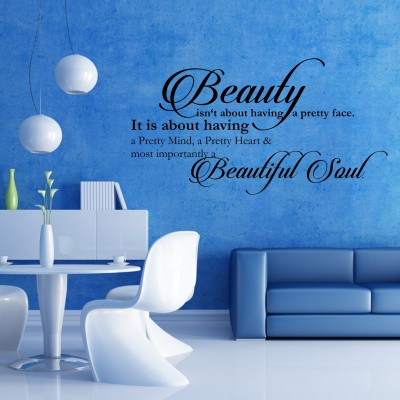 Beautiful Soul Wall Sticker Decal-Small-Black