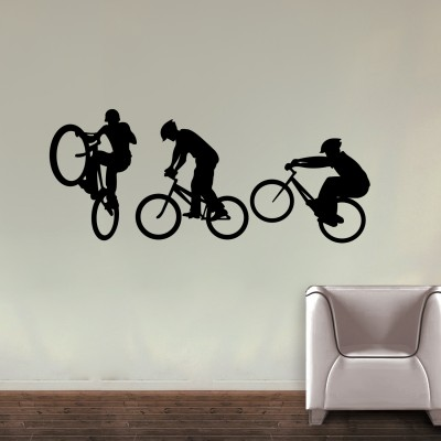 Cycling Team Wall Sticker Decal-Small-Black
