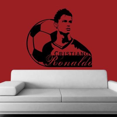 Christiano Ronaldo Wall Sticker Decal-Small-Black