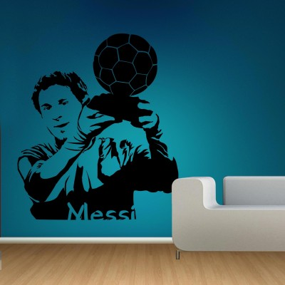 Lionel Messi Wall Sticker Decal-Small-Black